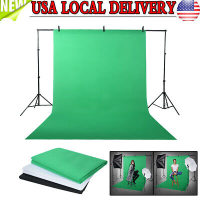 Photography Studio Backdrop Softbox Continuous Lighting Kit Background Stand Set
