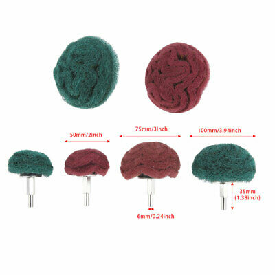 Polishing Buffing Scouring Pad Mop Wheel 50-100mm For Drill Rotary Tool Sander