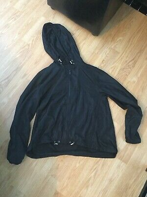 Girls New Look 915 Generation Black Hooded Light Jacket (Size