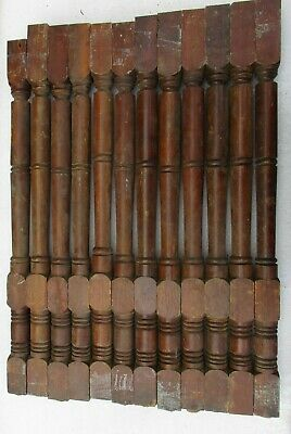 12 Oak Victorian Porch Spindles Balusters Columns Antique 25 1/2""
