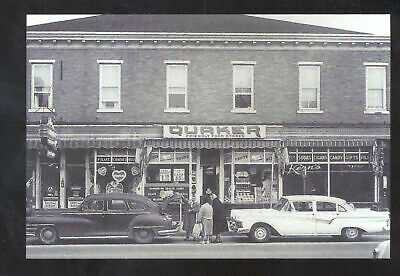 Real Photo Hammonton New Jersey Downtown Quaker Store Postcard Copy Cars