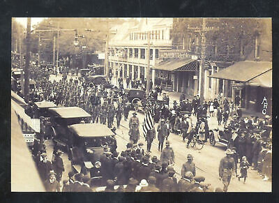 Real Photo Red Bank New Jersey Downtown Street Parade Nj Postcard Copy
