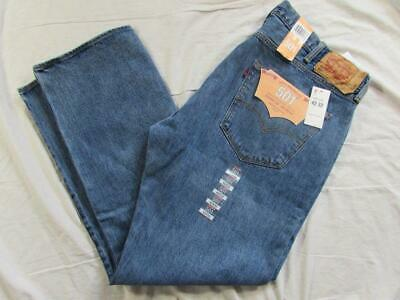 13ba84fa09d NWT Levi 501 Button Fly Straight Leg Faded Denim Jeans Size 38x34 New