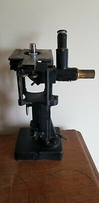 Vintage Bausch & Lomb Brass Microscope w/ Locking Wood Case Extra Lenses - Rare