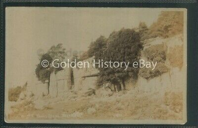 Antique Real Photo Rp Beetham Fairy Steps Cumbria Postcard Posted