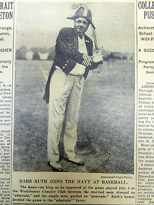 1935 NY Times newspaper w photo BABE RUTH play baseball WESTCHESTER COUNTRY CLUB