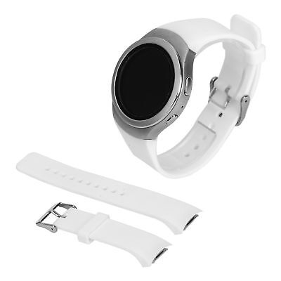New Luxury Silicone Watch Band Strap For Samsung Galaxy Gear S2 R720 - White