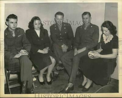 1948 Press Photo Witnesses in the trial of Mrs. Wilma Ybarbo, Marburg, Germany)