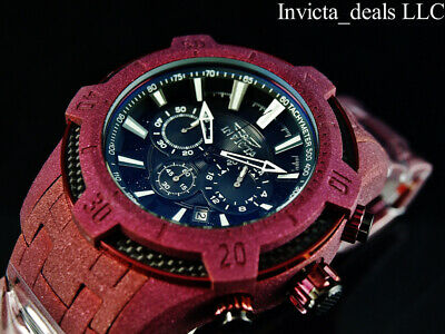 Invicta Men's 52mm Pro Diver Scuba Chronograph SANDBLASTED Burgundy Finish Watch