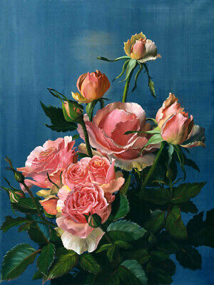 Roses oil painting Giclee Art HD Printed on canvas for living room L2580