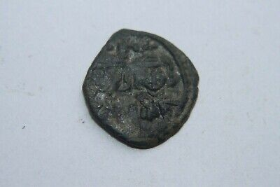 ANCIENT BYZANTINE LEO IV BRONZE HALF FOLLIS COIN 8th CENTURY AD