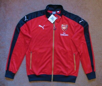 3d81c7edf Puma Arsenal Stadium soccer jacket NEW LARGE NWT tags Red Navy blue $85