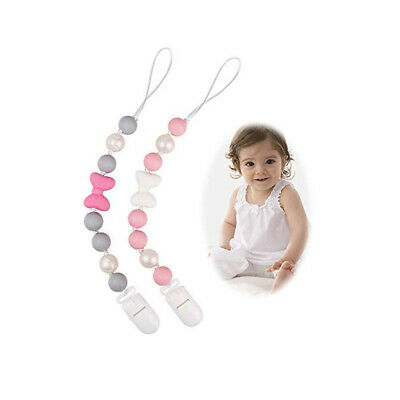 Baby Silicone Beads Teether Teething Toy Bead Pacifier Chain Chewing BPA Free