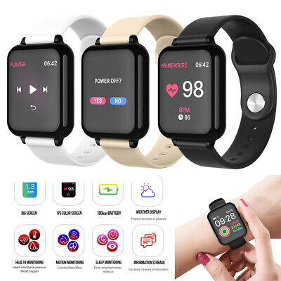 Bluetooth Smart Watch Sports Wristband Fitness Bracelet For Android iOS Apple