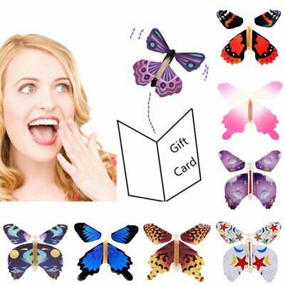 Magic Colorful Flying Butterfly Change From Empty Hands Tricks Prop Childs Toys