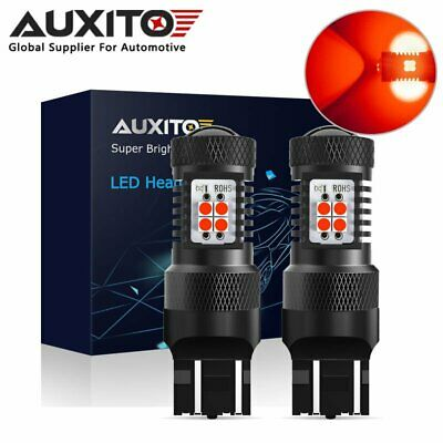 2X AUXITO 7443 7440 T20 RED LED Brake Stop Turn Signal Light Bulb Globes Lamp
