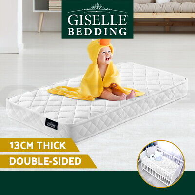 Giselle Bedding Baby Cot Mattress Bed Pocket Spring Foam Aloe Fabric 13cm