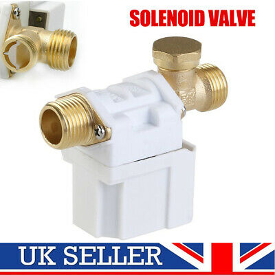 "1/2"" 12V N/C DC Electric Solenoid Valve Water Air Water Gas Closed Normally UK"