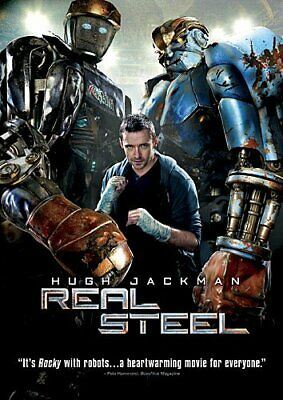 Real Steel Hugh Jackman Shawn Levy PG-13 DVD Sports Robot Boxing Action AA