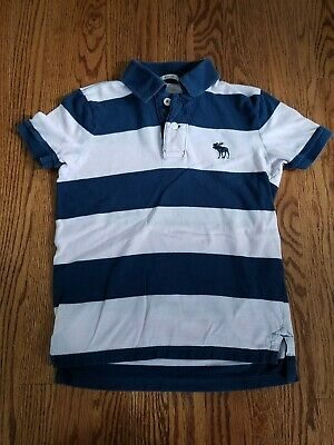 876ae9536 ABERCROMBIE & FITCH Boys Size S MUSCLE FIT Polo Shirt Short Sleeve Pink Blue
