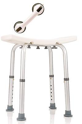 Dr. Maya Adjustable Bath and Shower Chair with Free Suction Assist Shower Handle