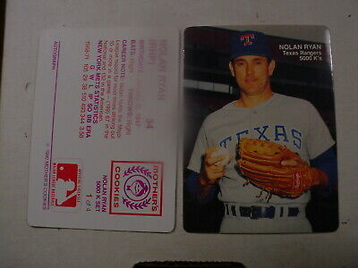 Nolan Ryan 1990 Mothers Cookies 5000 Ks 4 Card Set Sealed Singles