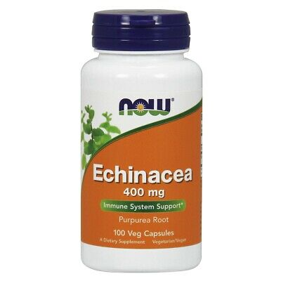 Now Foods ECHINACEA PURP 400mg 100 VCAPS Made in USA FREE SHIPPING