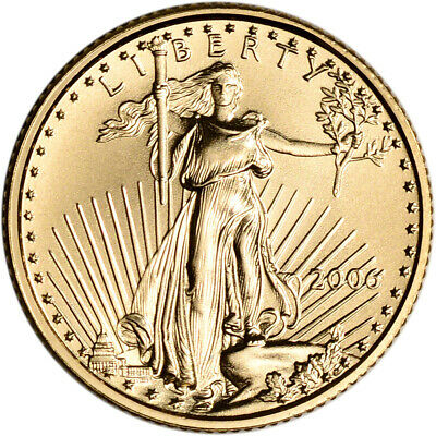 2006 American Gold Eagle 1/10 oz $5 - BU