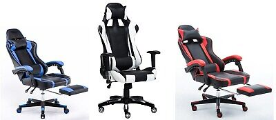 Executive Racing Style Pro Gaming Computer Office Swivel Chair with Footrest
