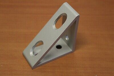 80/20 Inc T-Slot Aluminum 4 Hole Tall Gusseted Bracket 30 Series #30-4336 J4-06
