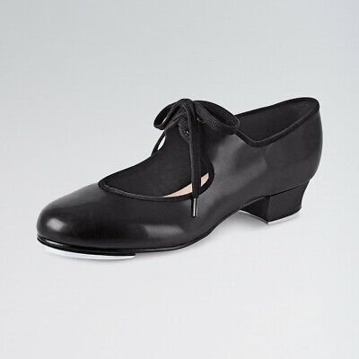 Bloch S0330 Timestep Low Heel PU Tap Dance Shoes Black White