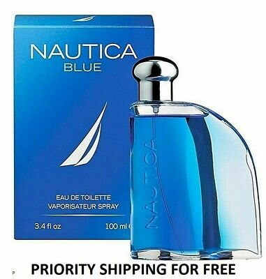 NAUTICA BLUE Perfume for Men * 3.4 oz 100 ml Eau de Toilette * New in Box Sealed