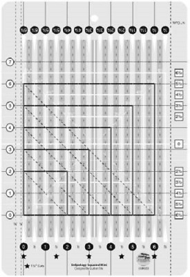 Creative Grids Stripology Mini Sewing and Quilting Ruler CGRGE3
