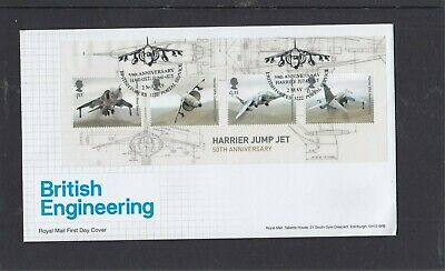 GB 2019 British Engineering MS Royal Mail First Day Cover Harrier BFPS 3222 pmk