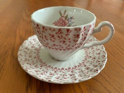 Johnson Brothers Rose Bouquet Tea Cup And Saucer