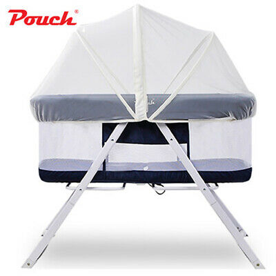 Pouch Baby Sleeper Travel Infant Bed PortableCot Folding Bassinet Cradle+Curtain