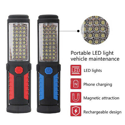 UK Rechargeable COB+5LED Hand  Lamp Magnetic Inspection Work Light Flexible