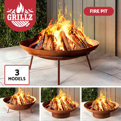 Grillz Arch Fire Pit Outdoor Heater Patio Copper Metal Fireplace Bowl 7 Models
