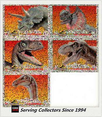 Australia Dynamic Jurassic Park Movie Trading Cards Prism Card Set (5)--Rare