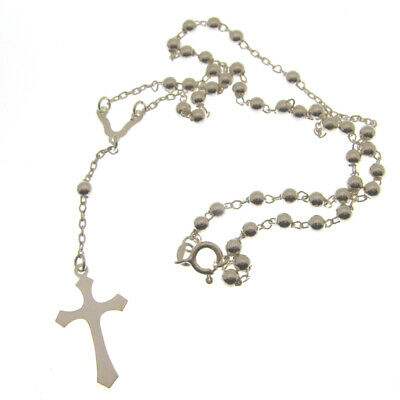 HALLMARKED SILVER ROSARIES. SILVER ROSARY BEADS FOR CHRISTENING or BAPTISM GIFT