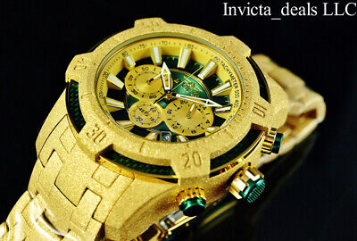 Invicta Men's 52mm Pro Diver Scuba Chronograph SANDBLASTED Gold Finish Watch