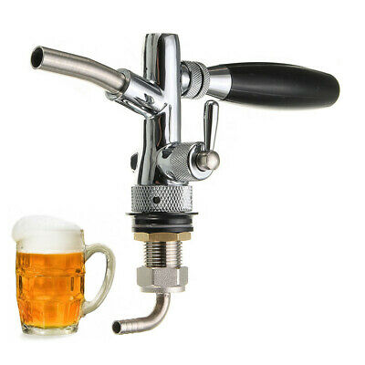 Beer Tap Faucet Flow Control Stainless Steel Faucet G5/8 Shank Kegerator Bar