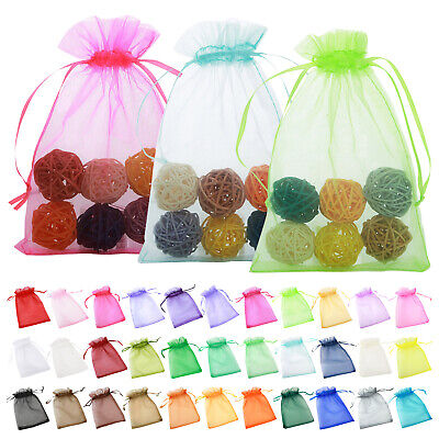 25/50PCS Small Organza Bags Party Wedding Candy Favor Jewellery Gift Bags Pouch
