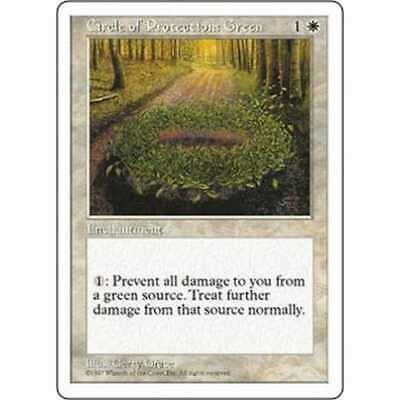 MTG FIFTH EDITION * Circle of Protection: Green - Condition: Good