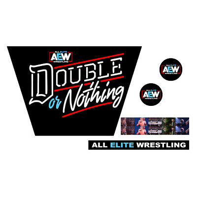 WWF/WWE Mattel Retro AEW Double Or Nothing Custom Ring Stickers/Decals