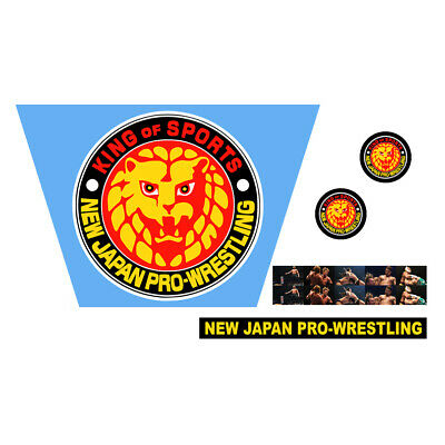 WWF/WWE Mattel Retro NJPW New Japan Pro Wrestling Custom Ring Stickers/Decals