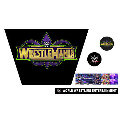 WWF/WWE Mattel Retro Wrestlemania XXXIV 34 Custom Ring Stickers/Decals