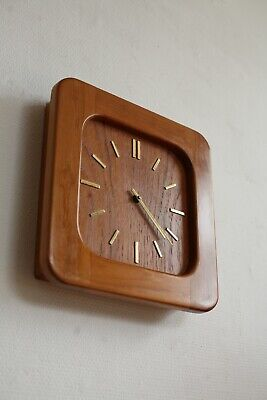 TRUE VINTAGE danish modern DANCLOCK TEAK WANDUHR Uhr 60er made in denmark