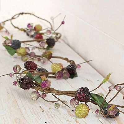 Green & Purple Acrylic Berry and Grape Garlands