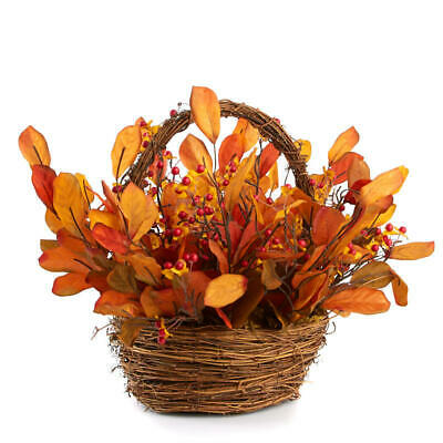 Grapevine Basket Filled with Artificial Bittersweet Berries